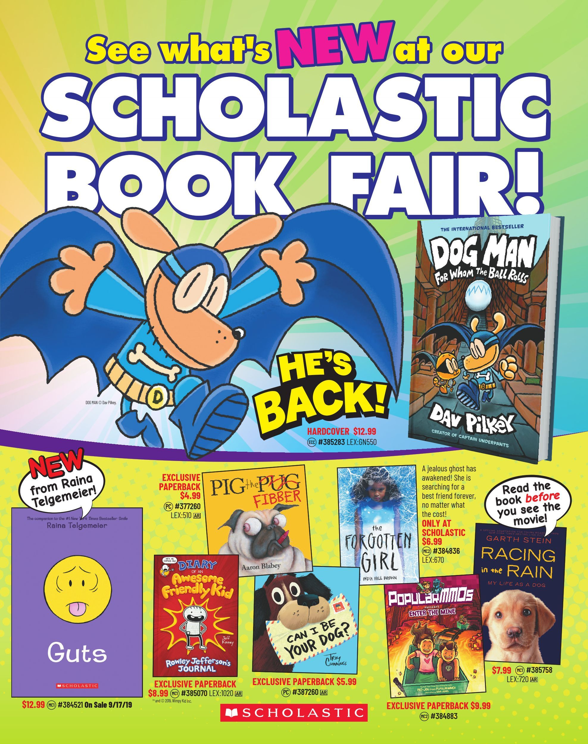 F19 Scholastic Book Fairs Booklist